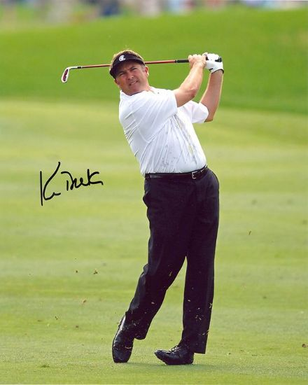 Ken Duke, American golfer, signed 10x8 inch photo.